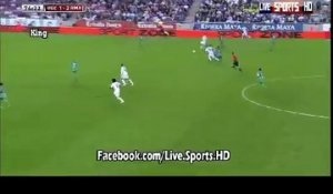 Real Madrid vs Cornella 4-1 : Marcelo célèbre son but
