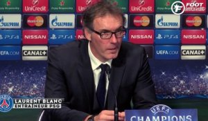 Laurent Blanc se satisfait de la qualification du PSG