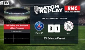 PSG-Ajax (3-1) le Match Replay avec le son RMC Sport