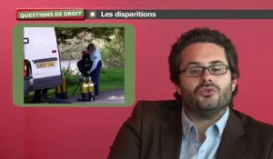 Questions de droit : les disparitions