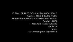 "Audi - voitures, ""Talents Awards 2012, Projection, L'avenir ne se prédit pas, il s'imagine."" - mai 2012"