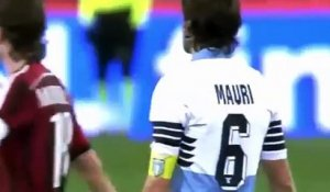 Philippe Mexès Red Card after Hit Stefano Mauri