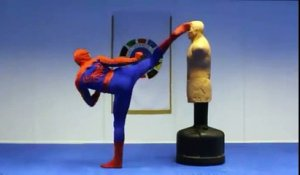 Super Spiderman taekwondo !!! Amazing !