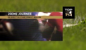 TOP14 - Toulouse-Montpellier: 18-13 - J20- Saison 2014/2015