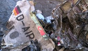 Sur le site du crash de l'A320 de Germanwings