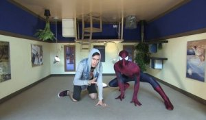 Ryan Matjeraie hangs out with Spider-Man!