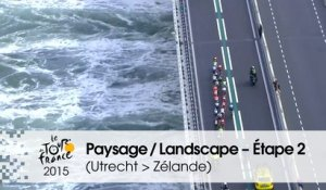 Paysage du jour / Landscape of the day - Étape 2 (Utrecht > Zélande) - Tour de France 2015