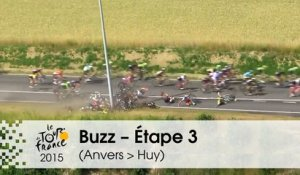 Buzz du jour / Buzz of the day - Grave chute collective - Étape 3 (Anvers > Huy) - Tour de France 2015