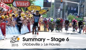 Summary - Stage 6 (Abbeville > Le Havre) - Tour de France 2015