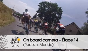 Caméra embarquée / On board camera - Etape 14 (Rodez / Mende) - Tour de France 2015