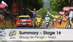Summary - Stage 16 (Bourg-de-Péage > Gap) - Tour de France 2015
