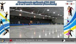 Pré-Novice Dames Gr. 4 prog. court-  Échauffement 5 (REPLAY) (2015-08-07 17:15:46 - 2015-08-08 03:32:31)