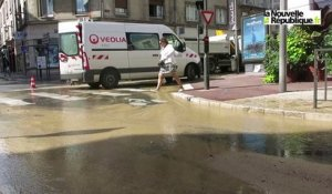 VIDEO. Blois : grosse inondation rue Denis-Papin
