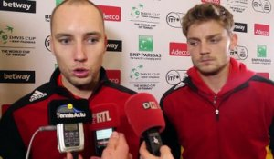 "Coupe Davis 2015 - Steve Darcis et David Goffin Davis : ""On n'a pas encore perdu la guerre"""