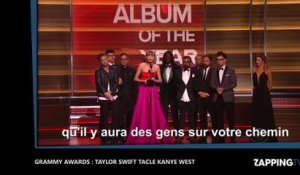 Grammy Awards 2016 : Taylor Swift tacle sévèrement Kanye West ! (Vidéo)