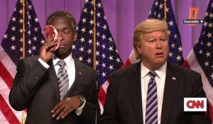 Incident lors d'un meeting de D.Trump, Saturday Night Live du 12/03
