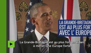 Brexit : comment Obama s'y oppose