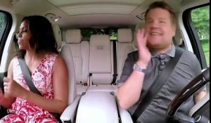 "Michelle Obama chante Beyoncé dans le ""Carpool Karaoké"" de James Corden - Regardez"