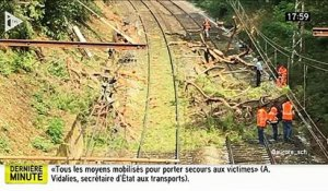 EN DIRECT - Accident de TER près de Montpellier - Le train a percuté un arbre - Plusieurs blessés graves - Le train roul