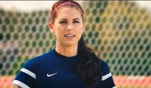 Soccer Star Alex Morgan is proud to be a girl