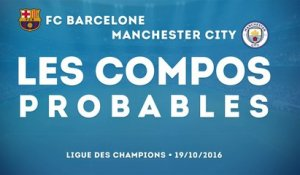 Barcelone - Manchester City : les compositions probables !