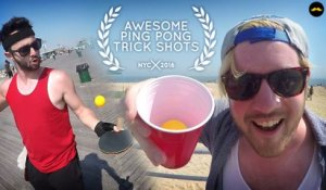 THE MOST AWESOME PING PONG TRICK SHOT VIDEO EVER MADE !