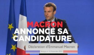 Macron annonce sa candidature