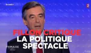 "François Fillon critique ""la politique spectacle"" de France 2"