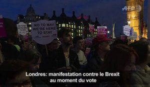 Londres: manifestation contre le Brexit au moment du vote