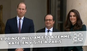 Le prince William et son épouse, Kate, en visite officielle à Paris