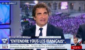 """J'ai trouvé Macron très figé dans son intervention"", dit Christian Jacob"