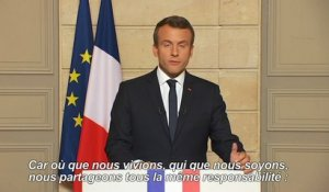 "Pour Macron: ""make our planet great again"" (anglais sous-titré)"