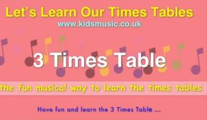 Kidzone - Let's Learn Our Times Tables - 3 Times Table
