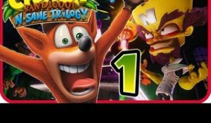 Crash Bandicoot N. Sane Trilogy Walkthrough Part 1 (PS4) Crash 1 - Island 1