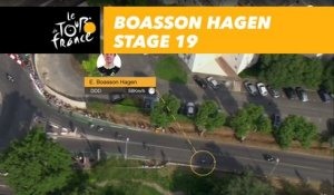 La vitesse de Boasson Hagen / Boasson Hagen's speed - Étape 19 / Stage 19 - Tour de France 2017