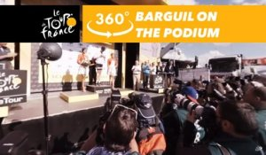 Warren Barguil's podium at the Col d'Izoard - 360° - Tour de France 2017
