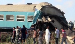 Terrible collision entre 2 trains en Egypte !