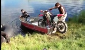 Faire de la moto sur un lac... Possible!