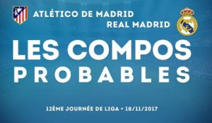 Atletico de Madrid - Real Madrid : les compos probables