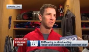 Eli Manning has emotional response to getting benched