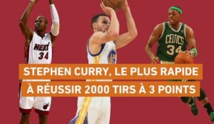 Basket - NBA : Curry, le plus rapide à réussir 2000 shoots à 3 points