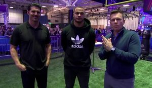 Dak Prescott competes in obstacle course against David Carr, Dan Hellie