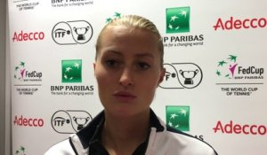 Fed Cup FRABEL : l'interview de Kristina Mladenovic - samedi 10