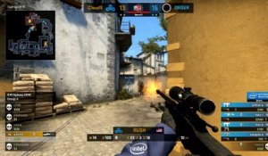 CS GO : RUSH 1v4 sur un point important