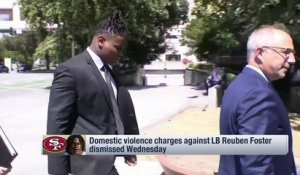 Domestic violence charges against Reuben Foster dismissed Wednesday