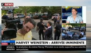 Regardez les images de l'arrivée d'Harvey Weinstein au commissariat de New York - VIDEO