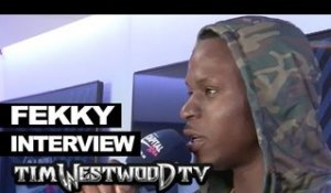 Fekky on new Section Boyz track, Dizzee Rascal, Culture Clash backstage at Wireless - Westwood