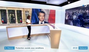 Emmanuel Macron : une protection sociale sous conditions