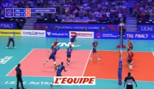 France-USA, la balle de match en vidéo - Volley - Ligue des Nations