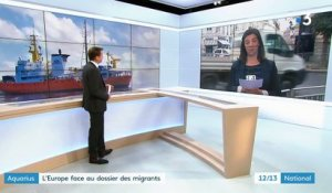 """Aquarius"" : l'Europe face au dossier des migrants"